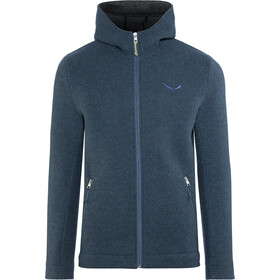 Salewa Sarner 2 Layer Wool Full-Zip Hoodie Herren poseidon